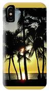 Watching The Hawaiian Sunset  IPhone Case