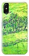 Water Color Of Apple Orchard Farm IPhone Case
