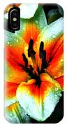 Water Droplet Covered White Lily  IPhone Case