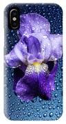 Water Drops On Purple Iris IPhone Case