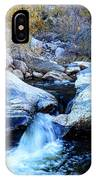 Water Flowing Through Rock Formation In Sabino Canyon II IPhone Case