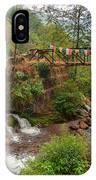 Water Flowing Through Rocks Kukhola Falls Sikkim IPhone Case