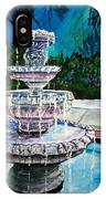 Water Fountain Acrylic Painting Art Print IPhone Case