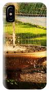 Water Fountain Garden IPhone Case