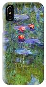 Water Lilies 1919 3 IPhone Case