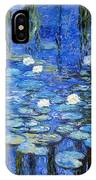 water lilies a la Monet IPhone Case