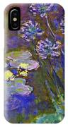 Water Lilies And Agapanthus 1917 IPhone Case