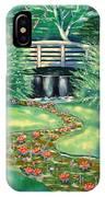 Water Lilies Bridge IPhone X Case
