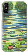 Water Lillies At Dusk IPhone Case
