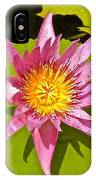 Water Lily After Rain 3 IPhone Case