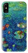 Water Lily Lotus Lily Pads Paintings IPhone Case