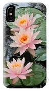 Water Lily Trio IPhone Case