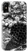 Water Lotus And Shells In Bw IPhone Case