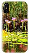 Water Reflecting Pinkish Waterlilies IPhone Case