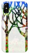 Watercolor Forest Silhouette Summer IPhone Case