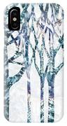 Watercolor Forest Silhouette Winter IPhone Case