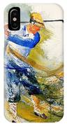 Watercolor  Golf Player IPhone Case