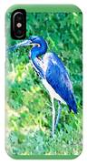 Watercolor Heron In Grass IPhone Case