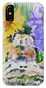 Watercolor - Pika With Wildflowers IPhone Case by Cascade Colors
