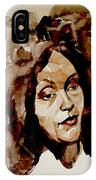 Watercolor Portrait Of A Woman With Bad Hair Day IPhone Case