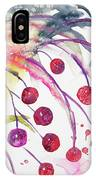 Watercolor - Winter Berry Abstract IPhone Case