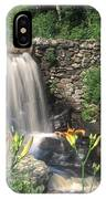 Waterfall And Lilies Moore State Park IPhone Case