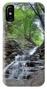 Waterfall And Natural Gas IPhone Case