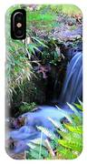 Waterfall In The Fern Garden IPhone Case