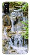 Waterfall In The Vandusen Botanical Garden 1 IPhone Case