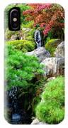 Waterfalls In Japanese Garden IPhone Case