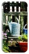 Watering Can And Blue Basket IPhone Case
