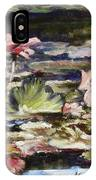 Waterlilies Tower Grove Park IPhone Case