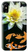 Waterlily And Koi Pond IPhone Case