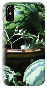 Watermelon In A Vegetable Garden IPhone Case
