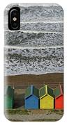 Waves And Beach Huts - Whitby IPhone Case