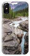 Waves Of ... Granite At Mistaya Canyon, Canada IPhone Case