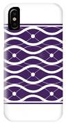 Waves With Border In Purple IPhone Case