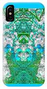 Waxleaf Privet Blooms In Aqua Hue Abstract With Aqua Frame IPhone Case