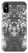 Waxleaf Privet Blooms In Black And White Abstract Poster IPhone Case