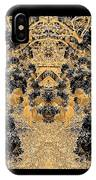 Waxleaf Privet Blooms In Black And White - Color Invert With Golden Tones Abstract IPhone Case