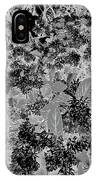 Waxleaf Privet Blooms On A Sunny Day In Black And White - Color Invert IPhone Case