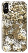Waxleaf Privet Blooms On A Sunny Day In Sepia Tones IPhone Case