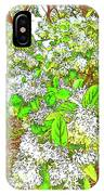 Waxleaf Privet Blooms On A Sunny Day IPhone Case