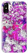 Waxleaf Privet Blooms On A Sunny Day With Magenta Hue IPhone Case