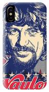 Waylon Jennings Pop Art IPhone Case