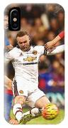 Wayne Rooney Shoots At Goal IPhone Case