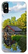 Wayside Inn Grist Mill Reflection IPhone Case