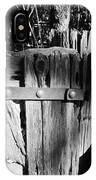 Weathered Fence In Black And White IPhone Case