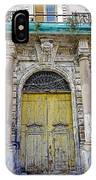 Weathered Old Artistic Door On A Building In Palermo Sicily IPhone Case