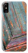 Weathered Orange And Turquoise Door IPhone Case